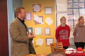Mr. Snell Facilitating the Student Panel