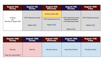 Don't forget to register for our 2018-2019 inservice week