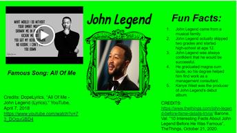 John Legend - Singer/Song writer