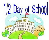 November 4th ~ 1/2 day students released @ 11:55 a.m