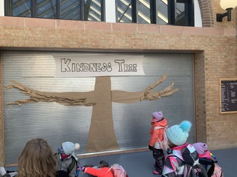 We begin our Kindness Challenge with this Kindness tree...it will soon be blooming with messages of kindness, caught being kind moments, and pledges of kindness from students