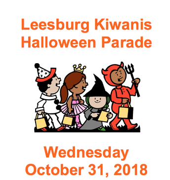 OPTION 1 - Leesburg Halloween Parade: Wednesday, Oct 31 (5-8pm)