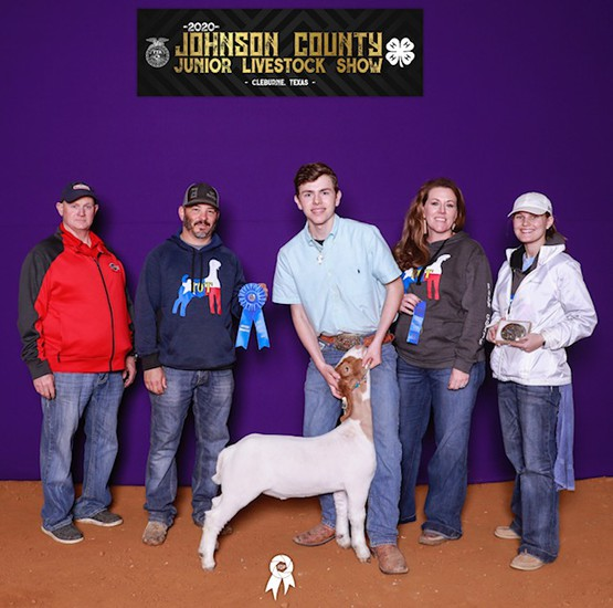 Dayton Allen with his Champion Middle Weight goat