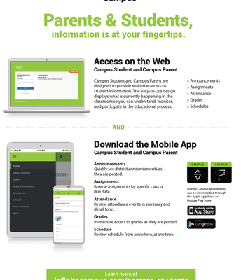 NEW Infinite Campus APP!!!!!!!