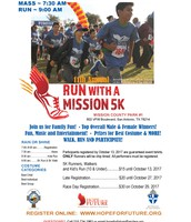 Hope for the Future- Run with a Mission 5K- October 29, 2017