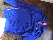 Blue underarmour jacket size large