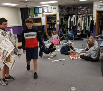 Newspaper Fashion Show