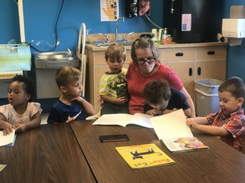 We sat with Ms. Rhonda through five books and wanted another one!