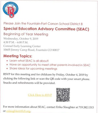 Special Education SEAC Meeting