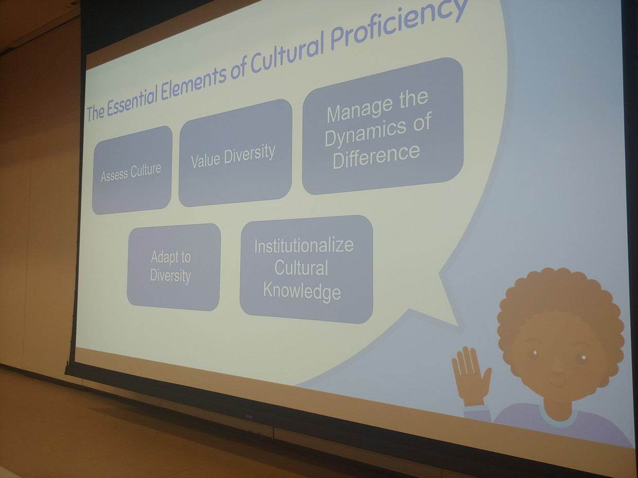 Culturally Proficient Slide From VO opening staff meeting
