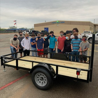 Welding Students Build Utility Trailer