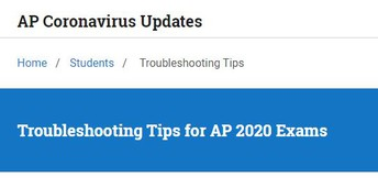 AP Exam testers Troubleshooting tips