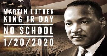 No School January 20