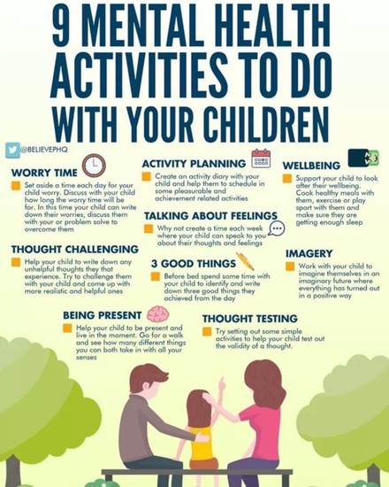 9 Mental Health Activities to do with your children