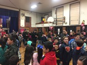 Packed gym for a great Valentine's Dance! Thanks PTA