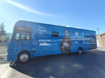 All aboard the Teen Health van!