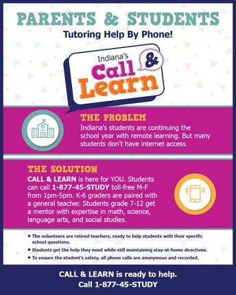 Indiana's Call and Learn Hotline!