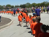 The processions of classes to start the day
