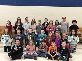 Whittier Spelling Bee Grade Level Winners