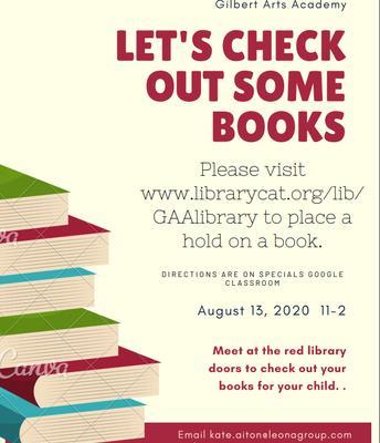 Book Pick-Up Thursday 11am-2pm
