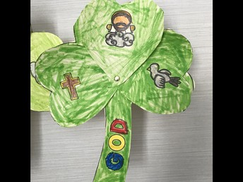 St. Patrick used the shamrock to explain the holy trinity with each leaf representing the Father, Son and Holy Spirit.