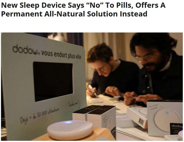 New Sleep device says NO to pills, offers a permanent all natural solution instead
