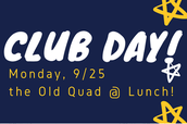MONDAY 9/25:  Get Connected!  Join an ORHS Club