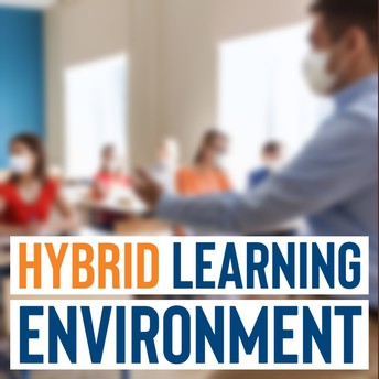 hybrid learning environment graphic