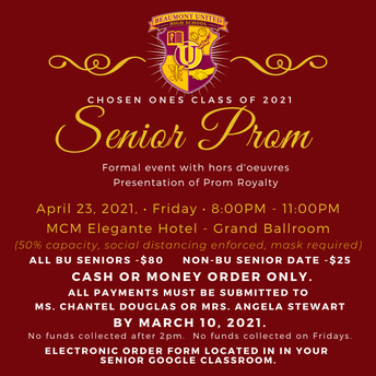 Purchase your Senior Prom Ticket!