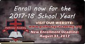 OPEN ENROLLMENT: ENROLL NOW FOR THE 2017-18 SCHOOL YEAR!