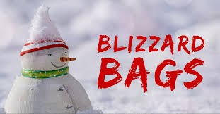Get ready for some snow....and be ready for a Blizzard Bag.