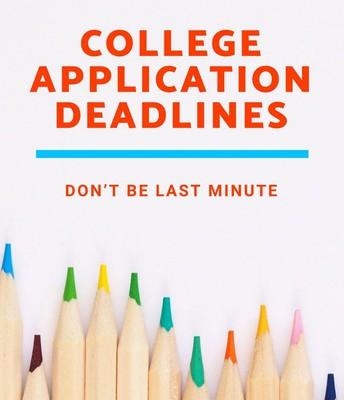 Deadlines, deadlines, deadlines