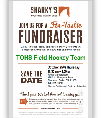 Field Hockey Sharky's Night