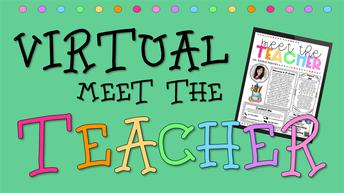 Update #1:  Virtual Meet the Teacher