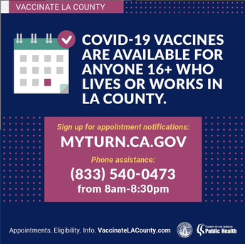 Vaccine appointments available