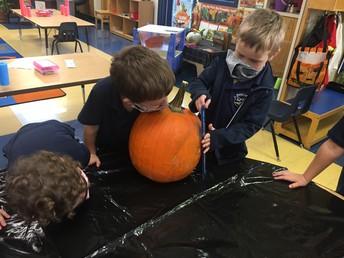 Measuring our pumpkin