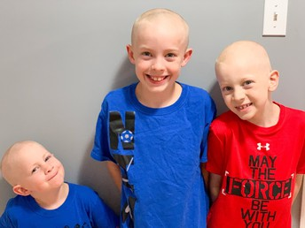 The Tambre boys all shaved head for P4H