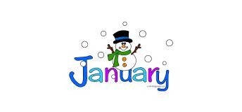Mr. William's January Newsletter