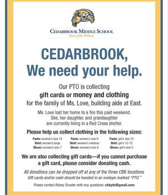 Cedarbrook, We Need Your Help