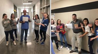 Blue Belles Teachers of the Week! Congratulations!