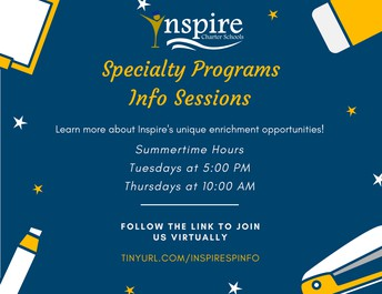Specialty Program Info Sessions