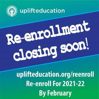 ¡La fecha límite para la reinscripción se acerca rápidamente!