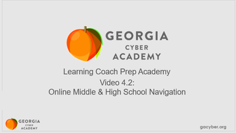 Click to view Video 4.2: Online Middle and High School Navigation