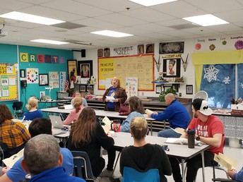 Education Foundation Speaks To LVMS Faculty