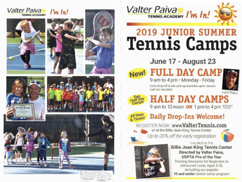 2019 Junior Tennis Camps
