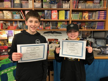 April 2019 Perfect Attendance - 6th grade