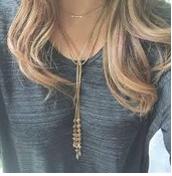 Brynn Lariat Necklace - Gold