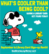 September is National Library Card Month