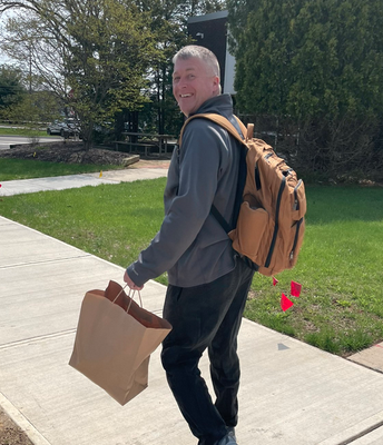 Curriculum Coach Mr. Muly Delivers Lunch to Some Star Teachers