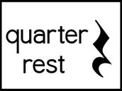 quarter rest = silencio de negra